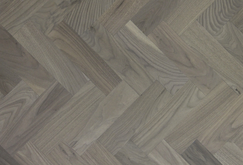 Grey Washed Walnut Parquet